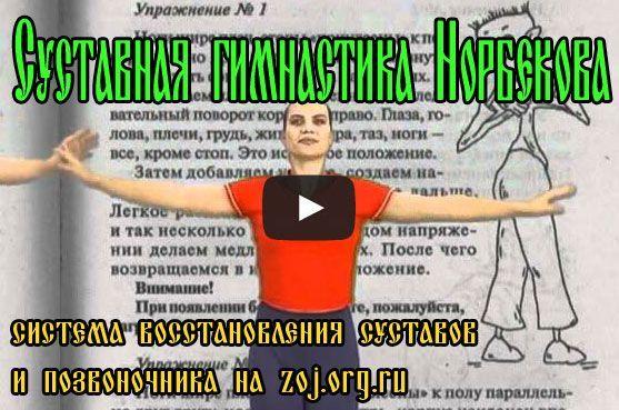Відео вправи суглобової гімнастки норбекова