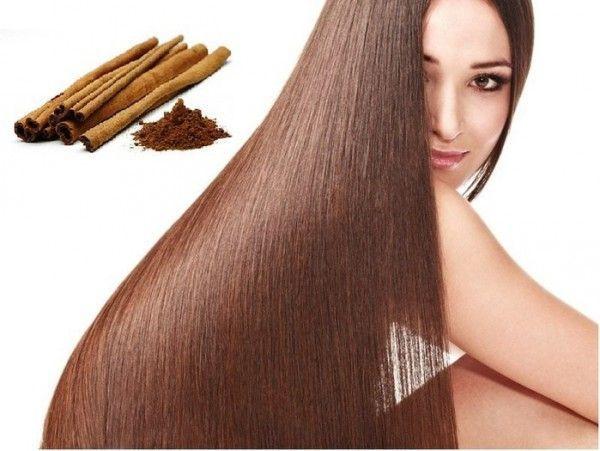 Жінка з красивим волоссям і кориця