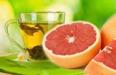 Грейпфрут і зелений чай