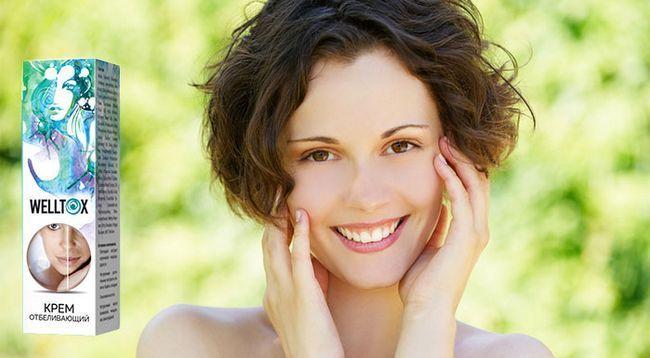 Welltox крем від пігментних плям зробить шкіру обличчя рівною і сяючою